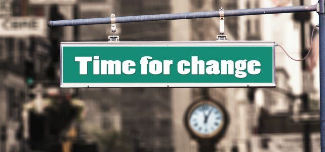 Schild Time for Change